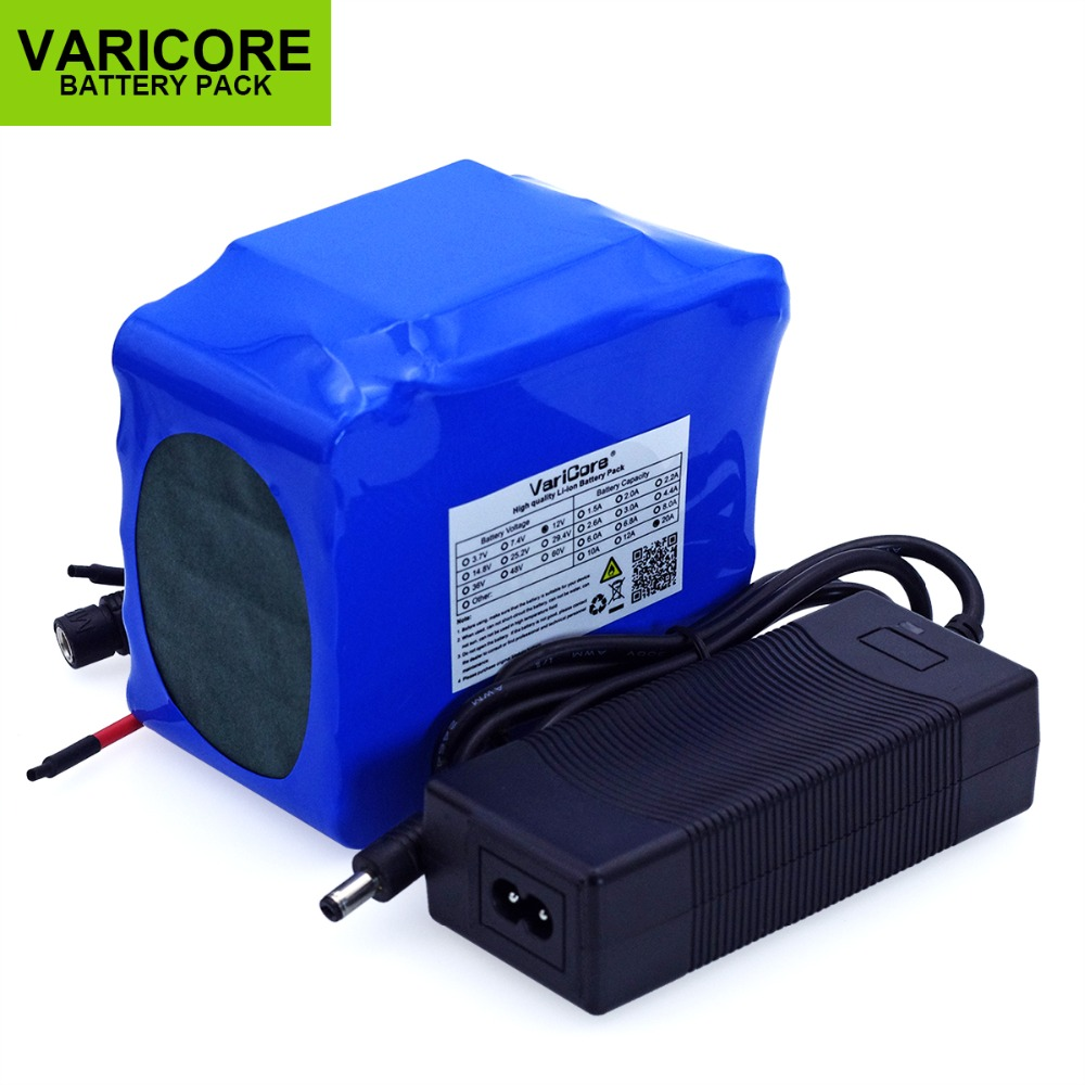 12 V 20000 mAh 18650 lithium battery gas-discharge lamp minder 20A 240W lamp Battery pack with PCB +12.6V polymer Battery chargr