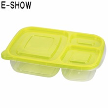 E-SHOW 1pcs 1000ML Rectangle Plastic Lunch Box Bento Box Food Container Preservation Box for home food organizer