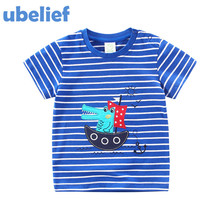 UBELIEF 2017 Summer Adventurer Seafarer Navigator T Shirts Print Cartoon Pattern Cotton Baby Child Boys Clothes Kids Tees Shirt
