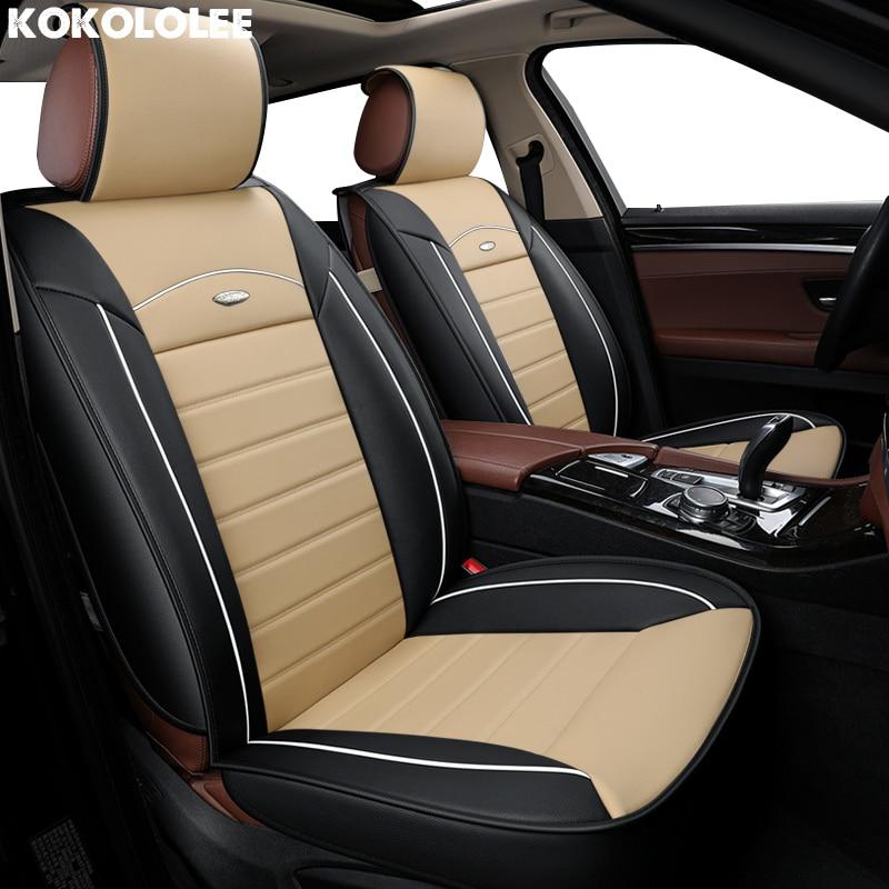 [Kokololee] pu cuir housses de siège de voiture pour mitsubishi asx bmw e34 opel vectra b fiat grande punto vw golf protecteur de siège de voiture