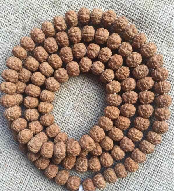Piccolo Vajra Bodhi 108 Braccialetto Rosso cinque perle a portata di mano e patta
