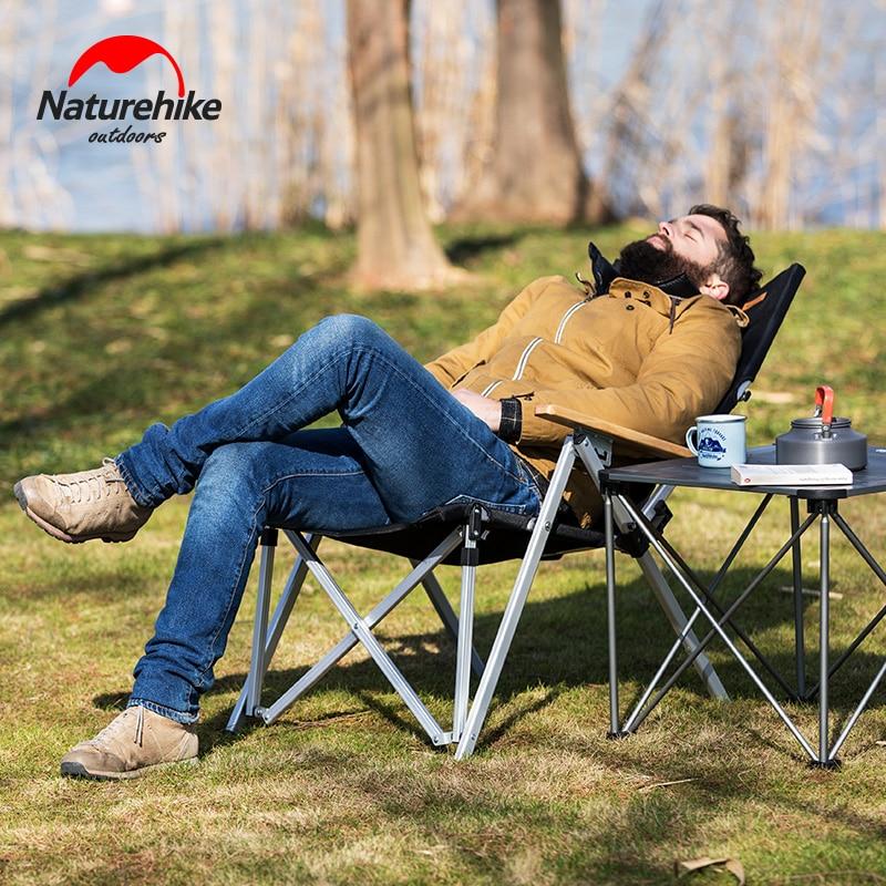 Naturehike Outdoor Camping Fishing Swimming Rest Portable Folding Garden Beach Lounge Chair Aluminium