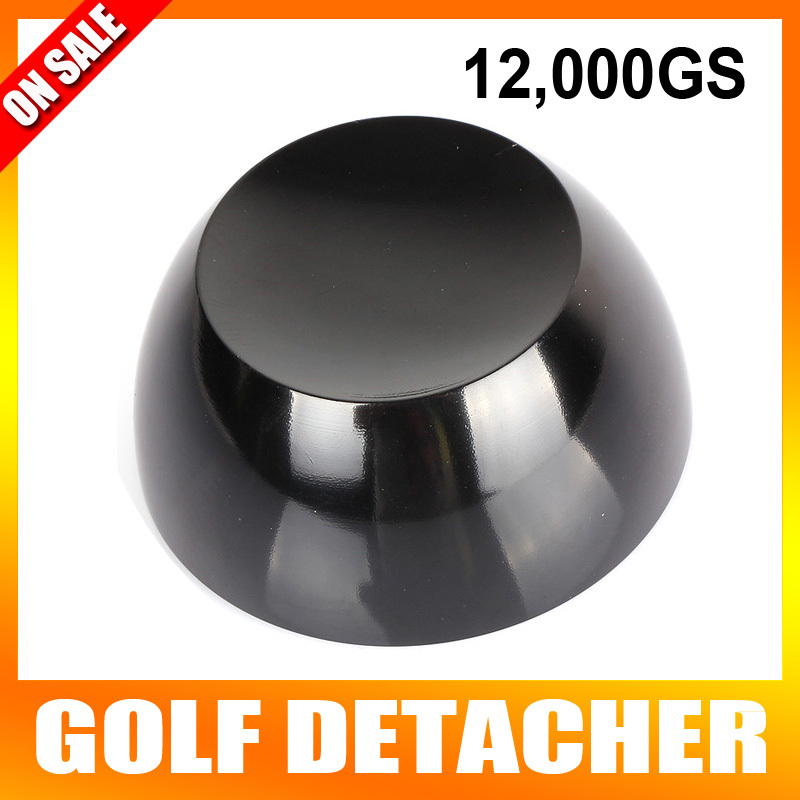 Black Golf Detacher Tag Security Tag Remover Super Magnetic Force Detacher Hard Detacher Eas System 12000GS 20000gs golf detacher security tag remover opener unlock eas tag detacher anti theft unlocking device strong magnetic force
