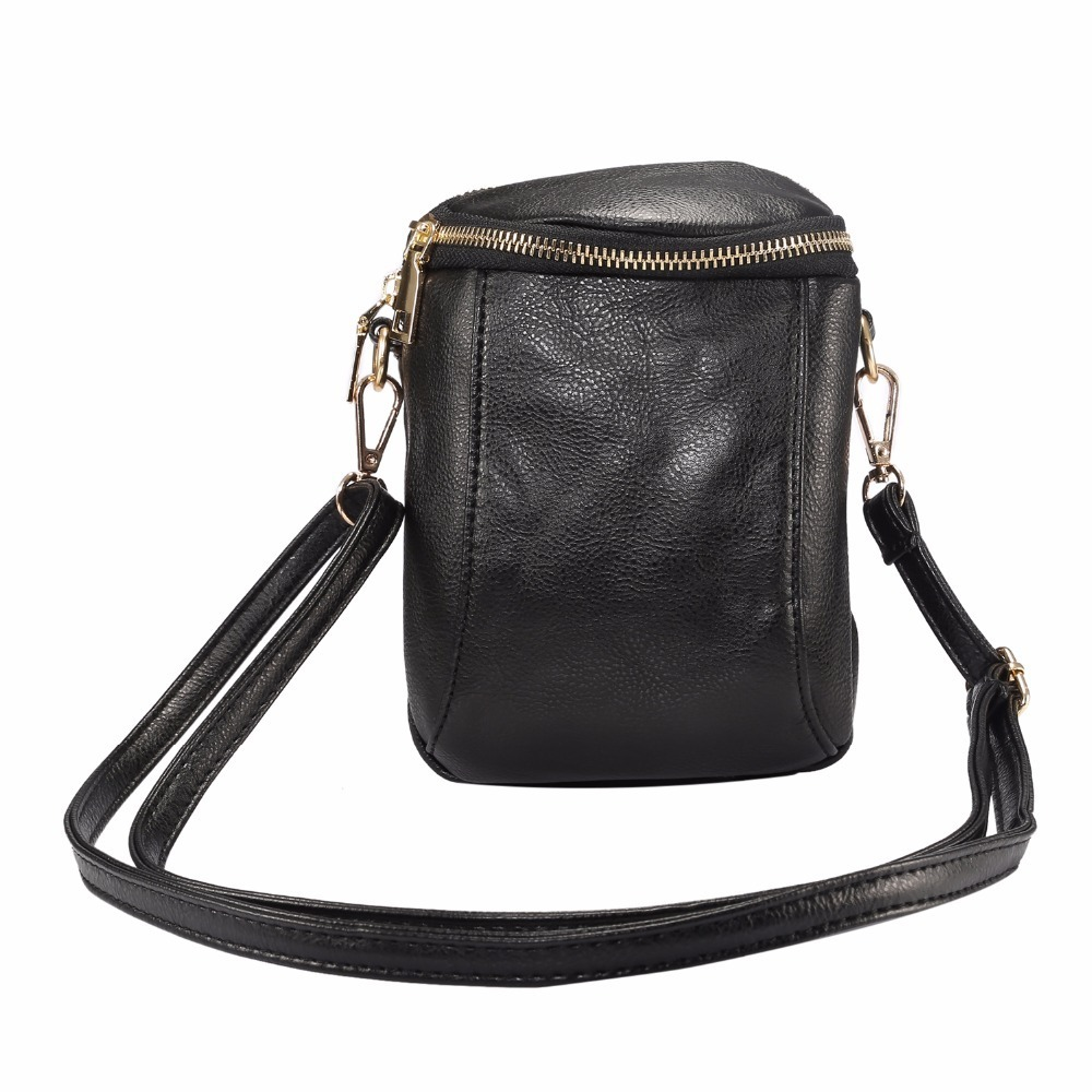 2018 Universal Fashion Women's Double Pockets Bag Zipper Pouch Phone Cases For iPhone 4s 5 5s 5c SE 6 6S 7 8 Plus X Wallet Cover