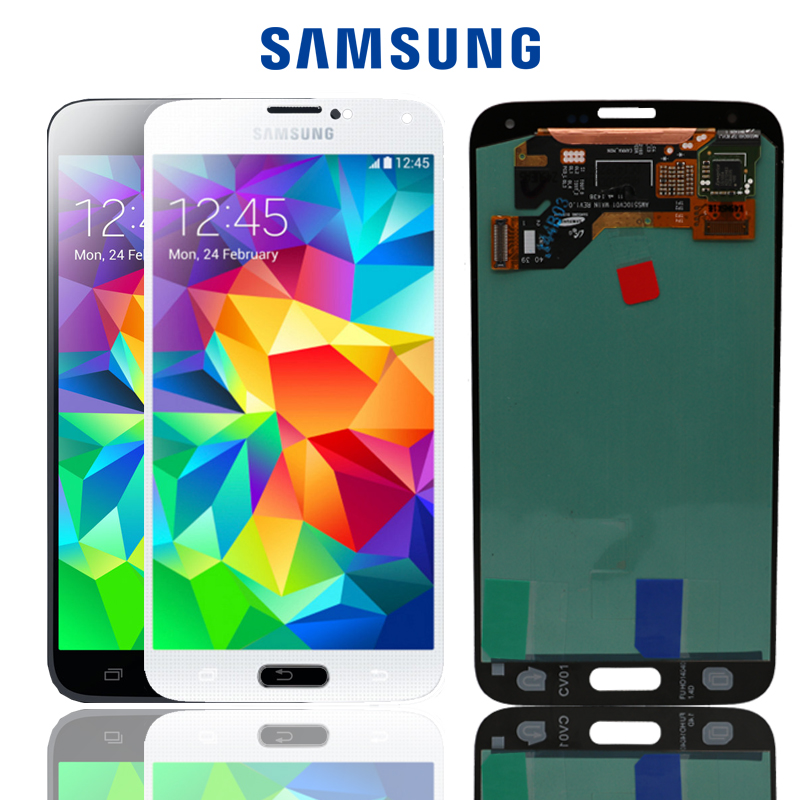 SUPER AMOLED 5 1 Display for SAMSUNG Galaxy S5 LCD Touch Screen for SAMSUNG Galaxy S5