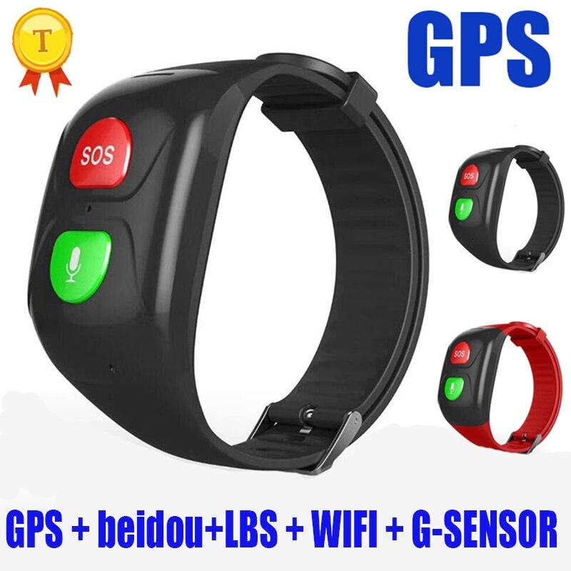 2019 montre intelligente vieux hommes femmes GPS traqueur sûr Bracelet SOS appel moniteur de fréquence cardiaque bande Bracelet étanche Sport Smartwatch