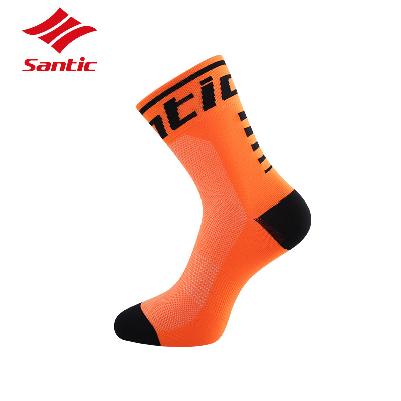 Santic Sport Cycling Socks Breathable Anti-sweat Basketball Socks Running Hiking Men Socks Bicycle Bike Calcetines Ciclismo Feet