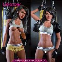 Linkooer 165cm réel Silicone poupées de sexe réaliste taille réelle sein réaliste sport fille Oral amour poupée Sexy adulte jouets pour hommes
