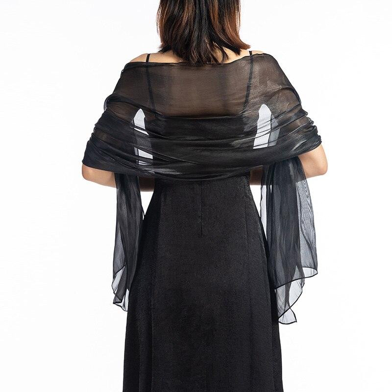 Promotion Bridal Wedding black Silver grey  Shawl  Brides maid wraps silky scarves  evening wraps party wraps Free shipping