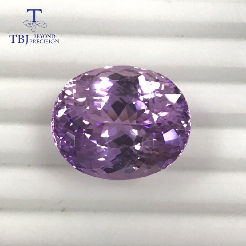 все цены на Tbj ,natural kunzite oval cut 22.33*18.25mm ard 40.95ct for silver or gold jewelry mounting,natural loose gemstones making DIY