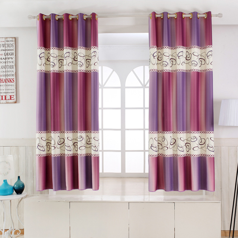 1 Panel Short Curtains Window Decoration Modern Kitchen Drapes Printed  Children Bedroom Curtains For Bay Window