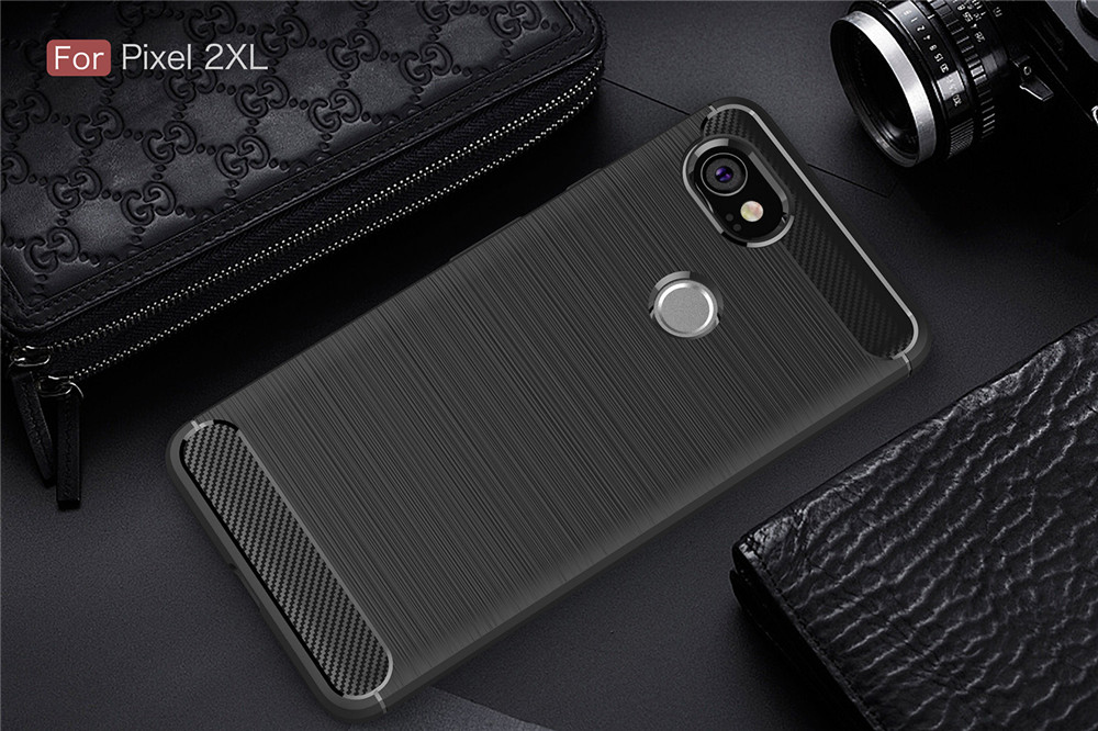 2XL Carbon Fiber Armor Case For Google Pixel 2XL Soft Silicone Phone Cases Back Cover For Google Pixel 2XL 6.0