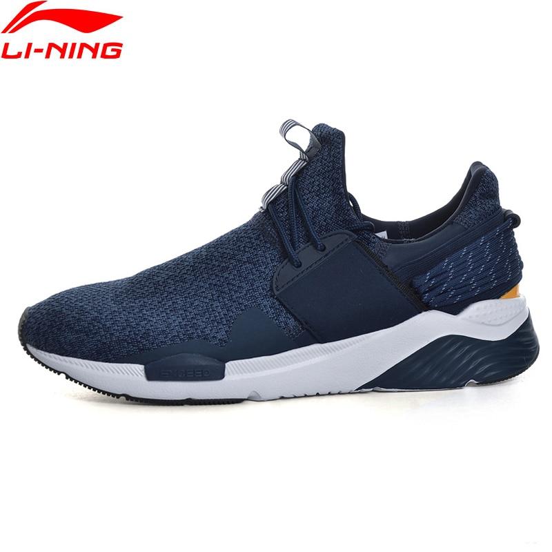 Li Ning Men Sport Walking Shoes Fitness Li Ning Cloud Sneakers TPU Support Stability LiNing Sneakers