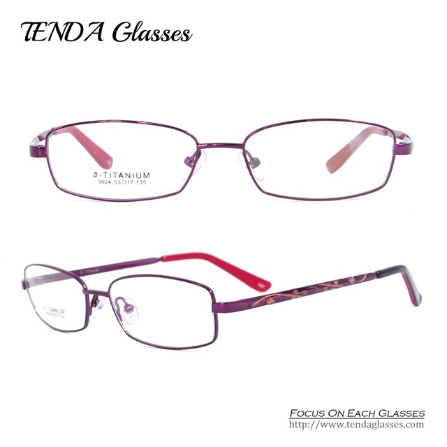 Fashion Titanium Glasses Degree Of Women Prescription Eyewear For Reading and Myopia Lens