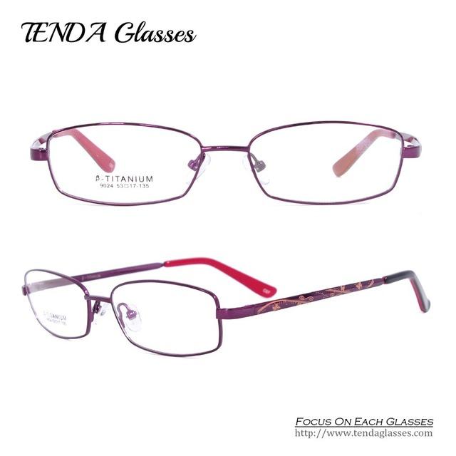 Moda de titânio óculos de grau de mulheres prescrição de óculos para leitura e lente miopia