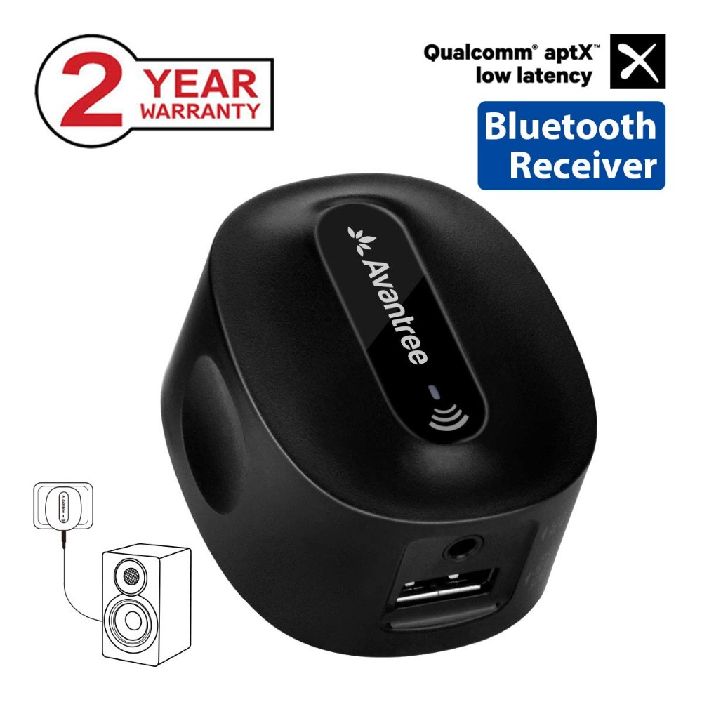 e8e8ee356ae Avantree Roxa Plus CHARGE FREE aptX LOW LATENCY Wireless Bluetooth Receiver  for Home Stereo, AUX