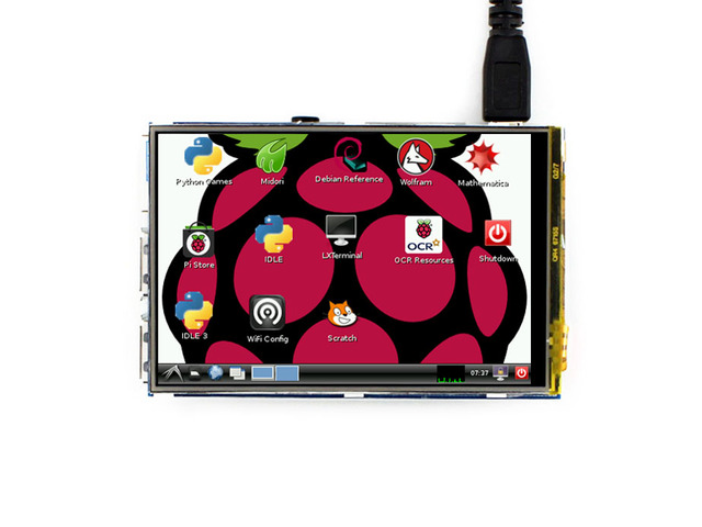 Waveshare Новые 3.5 дюймов RPi LCD B) сенсорный Экран IPS TFT ЖК Предназначен для всех Raspberry Pi 3 B/2 B/B + Непосредственно pluggable