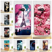 Thin Case For Nokia Microsoft Lumia 550 4.7 inch Soft Silicon Cover For Nokia Microsoft Lumia 550 Back Phone Cases Painted Shell