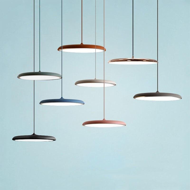 Modern LED Pendant Light UFO Round Plate Suspension Lamp For Dining Room Living Room Bedroom Table Study Hanging Lamp 220V 240V цена