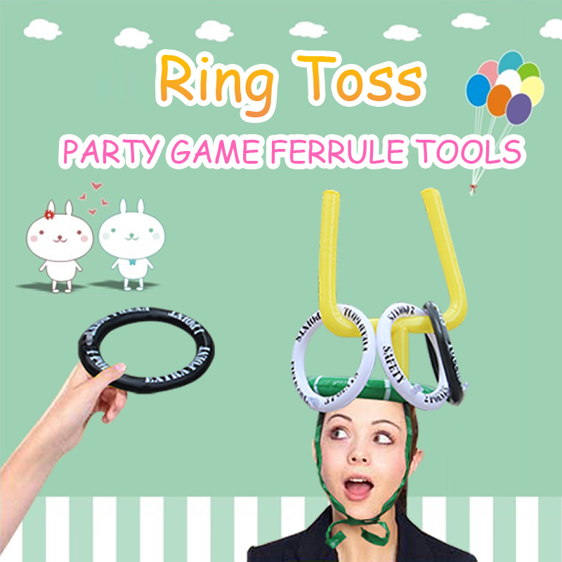 Mode Aufblasbare Hut Ring Werfen Party Game Ferrule Werkzeuge 4