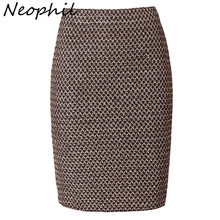 Neophil 2017 Luxy Vintage Gold Metal Ladies Bandage Sexy Office Pencil Mini Skirts Summer Women Sexy Party Club Short Saia S0324
