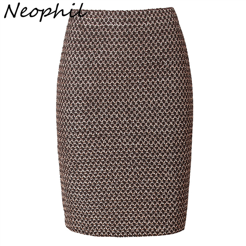 Neophil 2018 Luxy Vintage Gold Metal Ladies Bandage Sexy Office Pencil Mini Skirts Summer Women Sexy Party Club Short Saia S0324