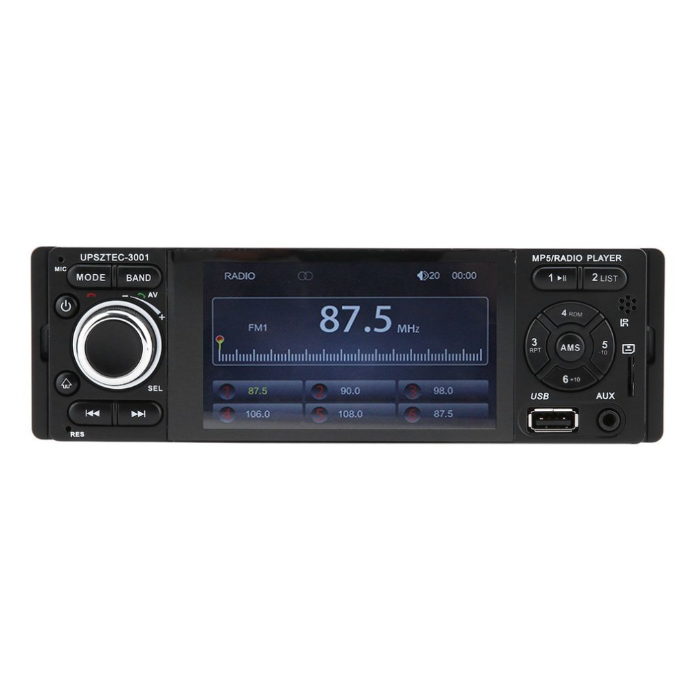 Hot Styling Bluetooth Car MP5 Player With FM Radio Receiver USB Wireless Remote Control Black 4.1 Inch HD LCD Screen Display f6063b 7 inch hd touch screen 2din car in dash fm radio receiver bluetooth dvd cd player with wireless remote control