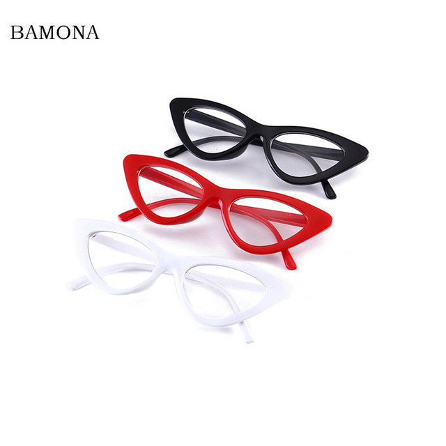 4a31914216a Band Sexy red cat eye glasses frames for women 2018 retro white black small  cheap eyewear frames women female