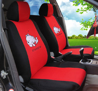 Bear Universal Car Seat Covers Cartoon Seat Cover Supports Fit Polyester Car Styling Sandwich Fabric Full