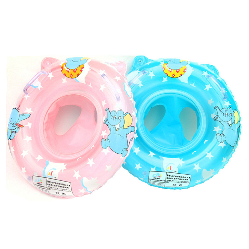 Baby Swimming Ring Inflatable Ring Float Child Cushion Float Cute Elephant Pattern Swimming Pool Accessories Toys