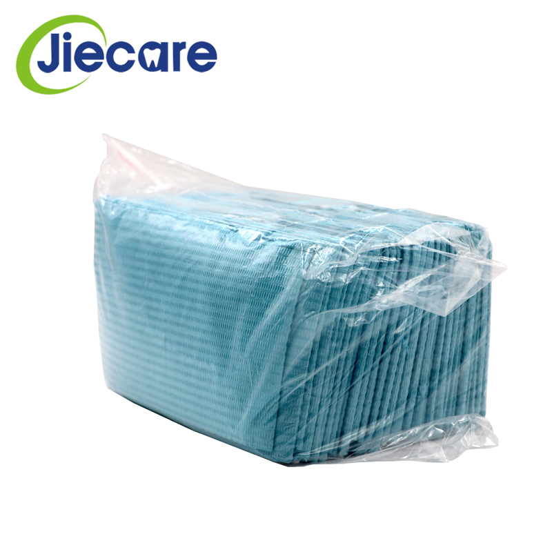 30PCS/Bag Dental Materials Dental Disposable Neckerchief Dental Blue Medical Paper Scarf Medical Shop Towels Lacing Bibs
