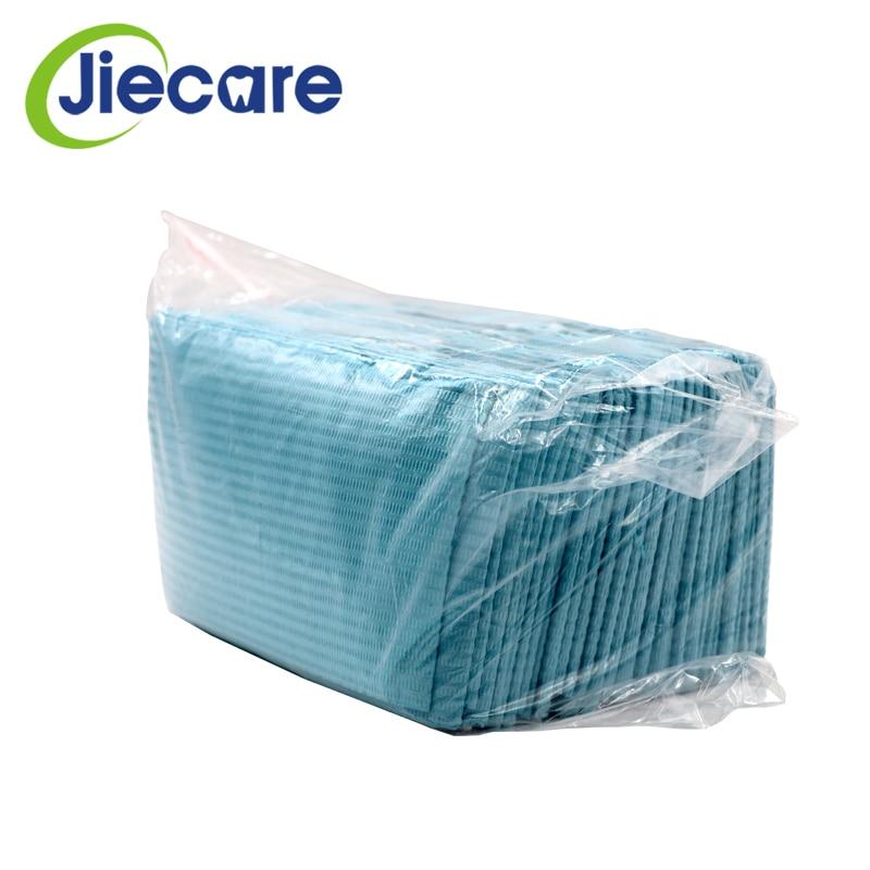 30PCS/Bag Dental Materials Disposable Neckerchief Blue Medical Paper Scarf Shop Towels Lacing Bibs