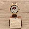 BOBO BIRD E11 Bamboo Wood Watch Men UV Printing Pokemon Go Pika Pokeball Cute Cartoon Wooden Quartz Watches for Men Women