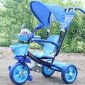 Triciclo criança pedal bebê crianças carrinho bicicleta buggiest grande rodada