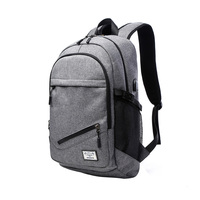 15 6 Inch Laptop Backpack Mochila Escolar Men Canvas Backpacks With USB Charger Large Capacity Travel