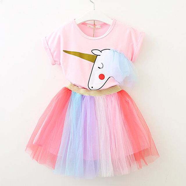الدب زعيم الفتيات مجموعة ملابس 2019 العلامة التجارية الفتيات الملابس فراشة كم إلكتروني T-قميص + الأزهار Volie التنانير 2 قطعة لفستان فتاة 1