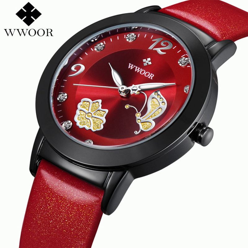 Watch Women`s Fashion brand luxury Fashion Casual quartz watches leather sport Lady relojes mujer women wristwatches Girl Dress