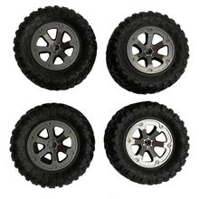 цена на 4Pcs Upgrade Track Wheels Spare Parts for 1/16 WPL B14 C24 Military Truck RC Car