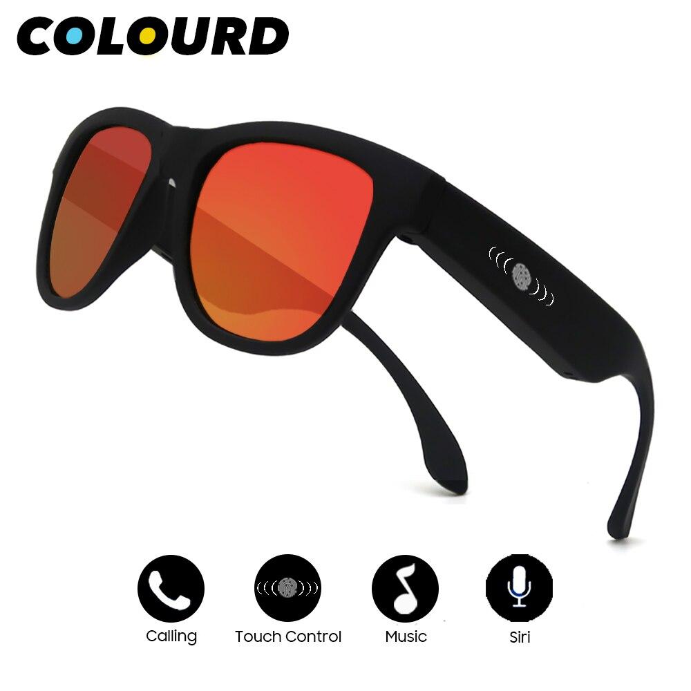 Couleur 2019 hommes Conduction osseuse Bluetooth musique lunettes de soleil Vue à la mode femmes Sport Audio casque son Speraker Smart nuances