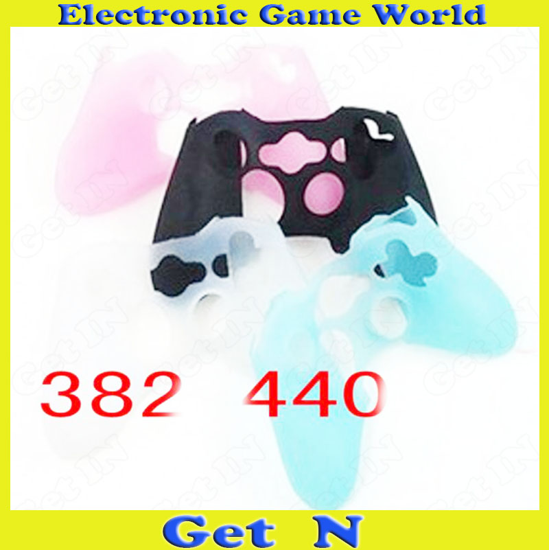 100pcs Skin Protection Cover Soft Anti-slip Silicone Protective Sleeve Case Shell for XBOX 360 Controllers
