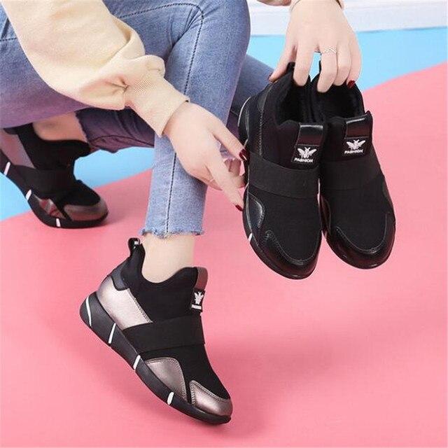 2019 Femmes Sneakers chaussures vulcanisées Dames chaussures décontractées Respirant Marche chaussures plates en maille grande taille chaussures couple size35-40 3