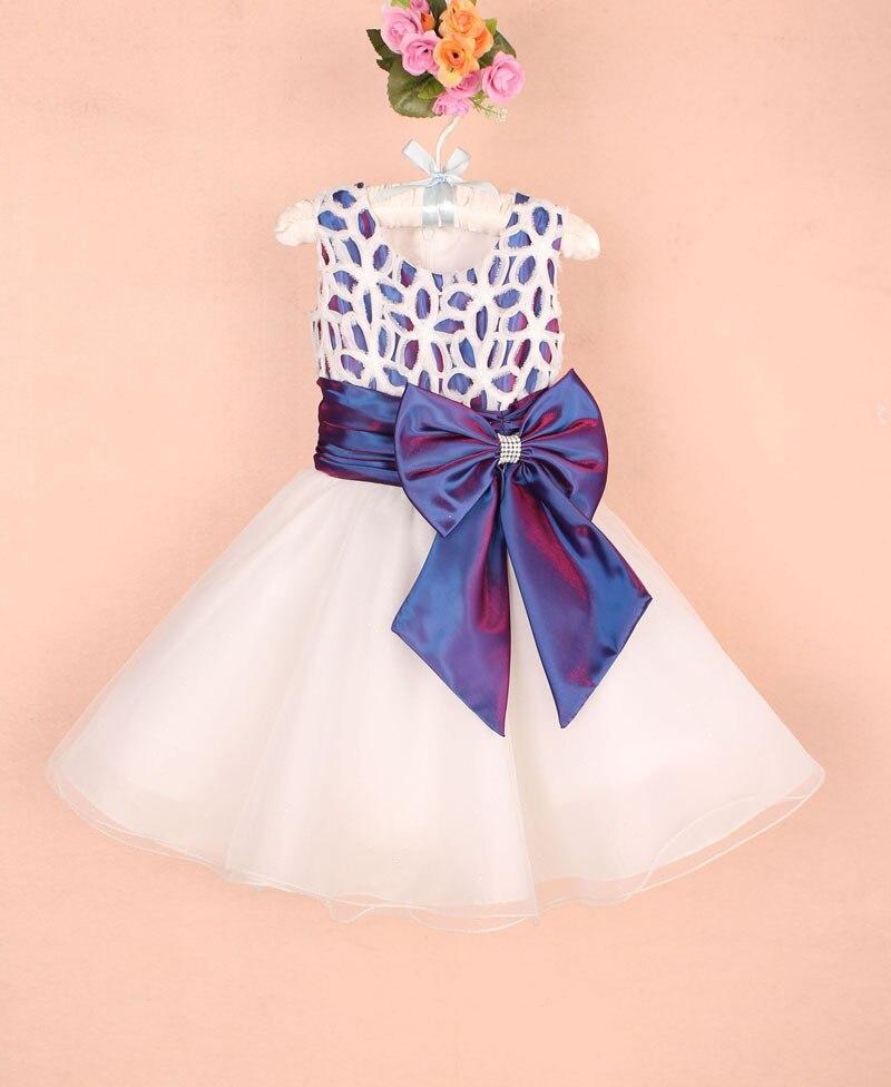 Fashion Elegant Baby Girl Party Frocks Big Bow Ball Gown Dresses Kids Wedding Formal Wear