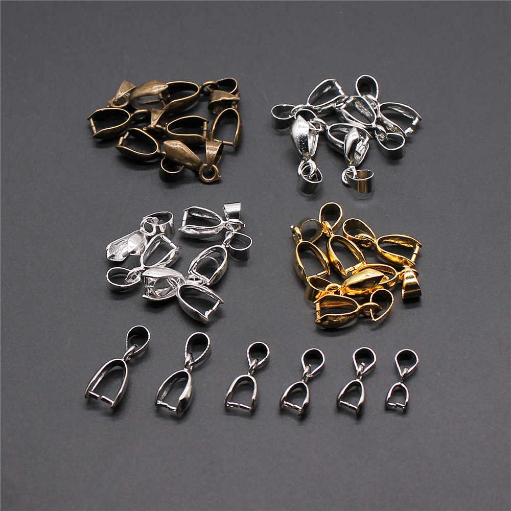 30 Uds 4 colgante de colores Clip colgante de bola conectores cuentas de bola accesorios de joyería Material de cobre