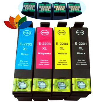 4 Pack Compatible T220XL 220XL Ink CARTRIDGE FOR Epson WorkForce WF-2760 WF-2650 WF-2630 WF-2260 WF-2750 Printer refill ink cartridge t03a1 t03a4 for epson workforce wf 2810 wf 2830 wf 2835 wf 2850 printer with one time chip singe use