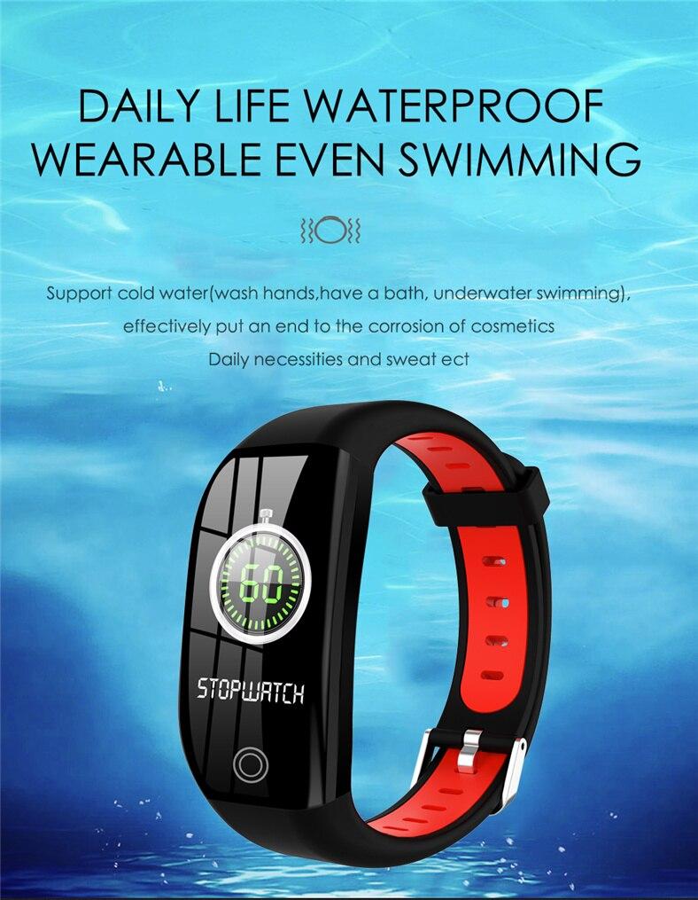 HTB1DoZ.a8Cw3KVjSZFuq6AAOpXao F21 Smart Bracelet GPS Distance Fitness Activity Tracker IP68 Waterproof Blood Pressure Watch Sleep Monitor Smart Band Wristband