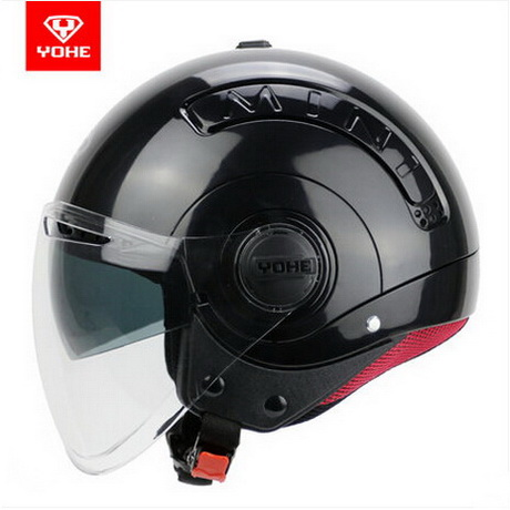 2017 Summer New YOHE half face motorcycle helmet fashion MINI double lenses motorbike helmets made of ABS for men and women
