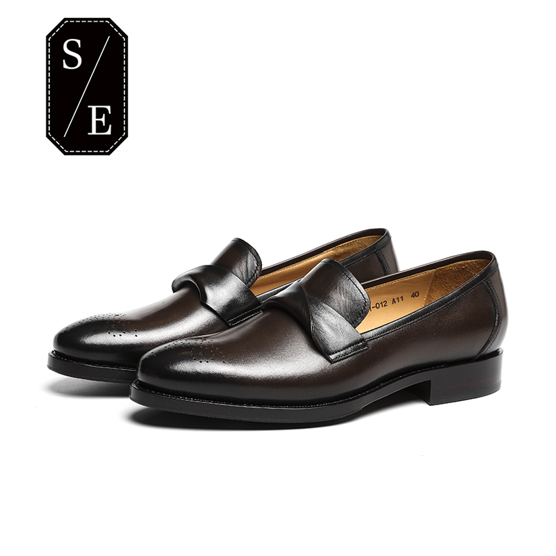 SINOEXTREME 2018 Fashion Handmade Men Loafer Shoes Full Leather Men Loafers Moccasins Slip On Men's Flats Male Brown Shoes pl us size 38 47 handmade genuine leather mens shoes casual men loafers fashion breathable driving shoes slip on moccasins