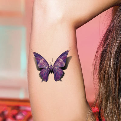 2 Pcslot Sex Products Butterfly Tattoo 3d For Women Waterproof