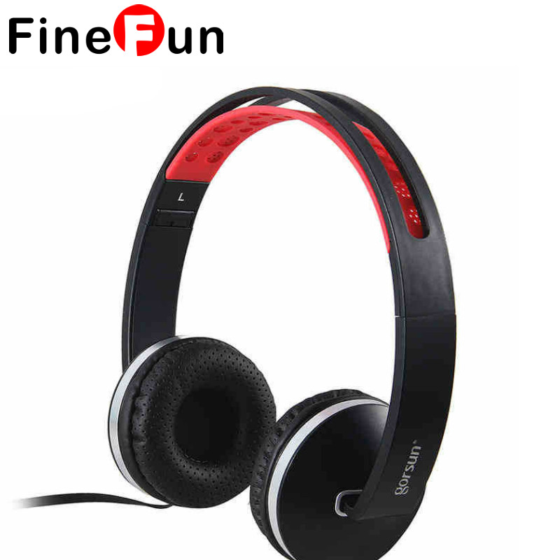 FineFun New GS-785 3.5mm Headphones Headset Super Bass Earphone With Mic Voice Control For Mp3 Player  Computer super bass clear voice earphone headset mobile computer mp3 universal earphone cool outlook