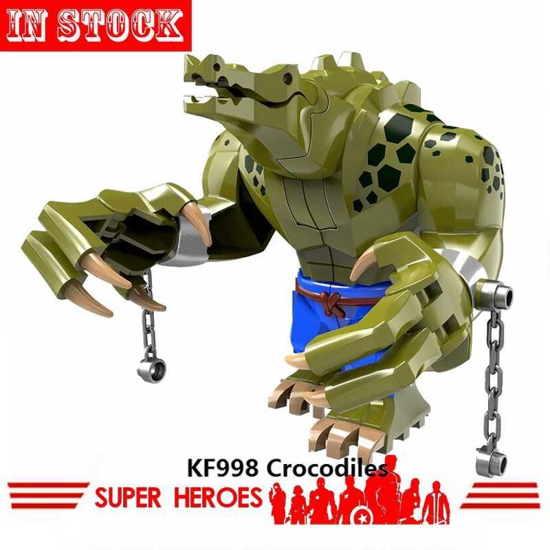Блокировка отряд самоубийц Джокер Харли Супер Герои крокодил убийца Бэтмен DC фильм фигурки KF998 блоки игрушки для детей локинги
